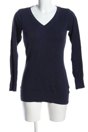 H&M V-Ausschnitt-Pullover blau Business-Look