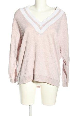 H&M V-Ausschnitt-Pullover creme-weiß Casual-Look