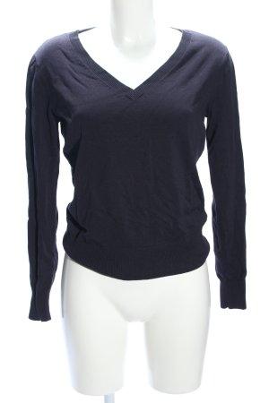 H&M Maglione con scollo a V blu stile professionale