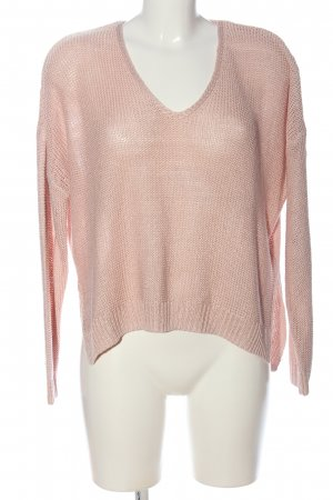 H&M V-Ausschnitt-Pullover creme Casual-Look
