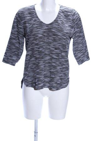 H&M Maglione con scollo a V nero-grigio chiaro puntinato stile casual