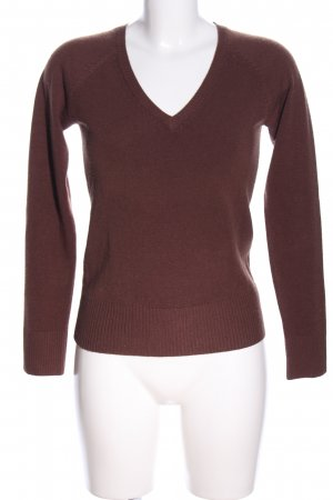 H&M V-Ausschnitt-Pullover braun Casual-Look