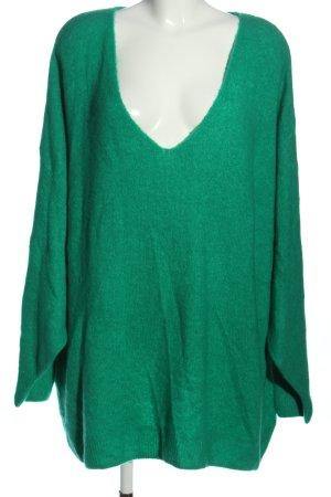 H&M V-Ausschnitt-Pullover grün Casual-Look