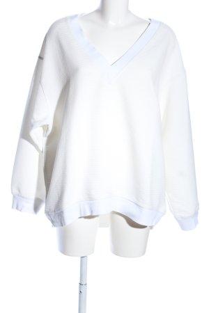 H&M V-Ausschnitt-Pullover wollweiß Casual-Look