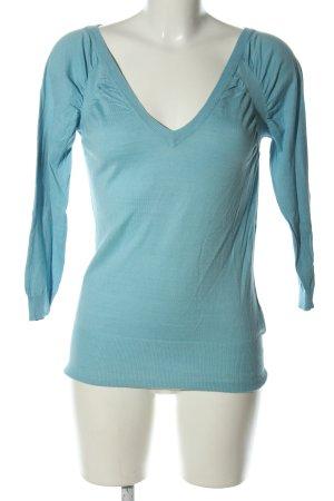 H&M V-Ausschnitt-Pullover türkis Casual-Look