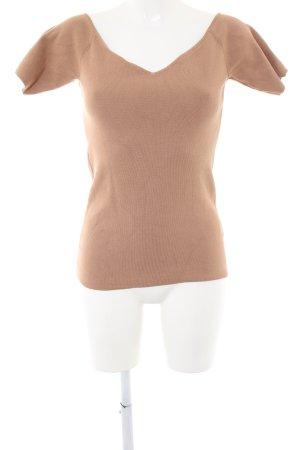 H&M V-Ausschnitt-Shirt nude Casual-Look