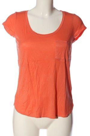 H&M V-Ausschnitt-Shirt hellorange Casual-Look