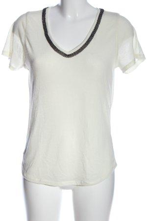 H&M V-Ausschnitt-Shirt creme Casual-Look