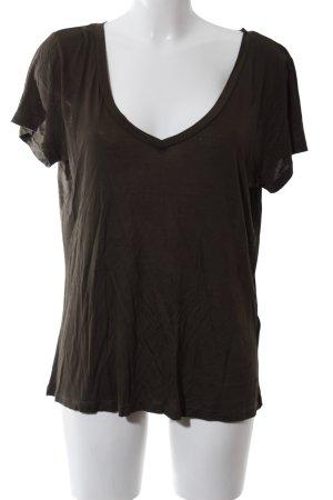 H&M V-Ausschnitt-Shirt khaki Casual-Look