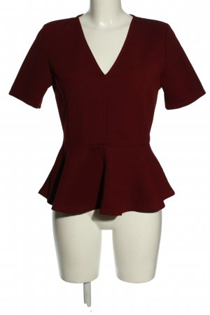 H&M V-Ausschnitt-Shirt schwarz Streifenmuster Casual-Look