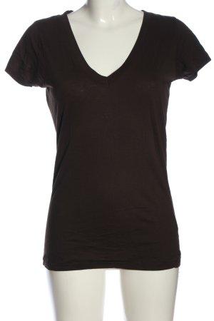 H&M V-Ausschnitt-Shirt schwarz Casual-Look