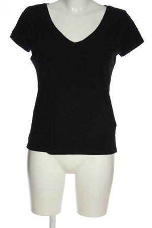 H&M V-hals shirt zwart elegant