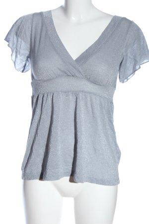 H&M Koszulka z dekoltem w kształcie litery V jasnoszary W stylu casual