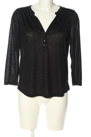 H&M V-hals shirt zwart casual uitstraling