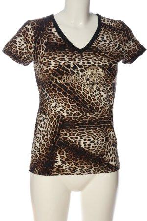H&M V-Ausschnitt-Shirt Allover-Druck Casual-Look