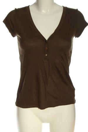 H&M V-Ausschnitt-Shirt braun Casual-Look