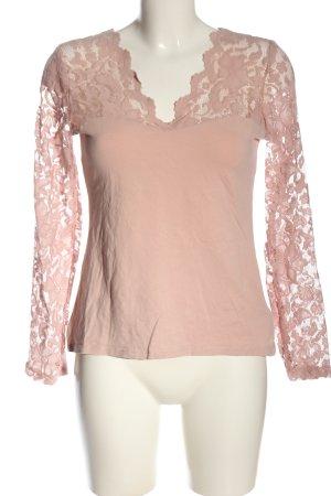 H&M Blusa de encaje nude elegante