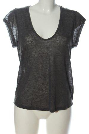 H&M V-Ausschnitt-Shirt hellgrau Casual-Look