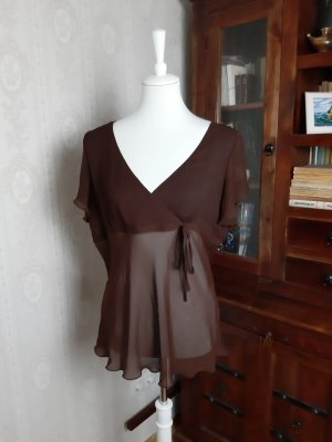 H&M V-hals shirt bruin