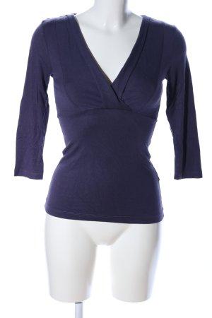 H&M V-Ausschnitt-Shirt blau Casual-Look