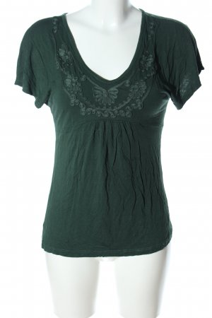 H&M V-Ausschnitt-Shirt grün Casual-Look