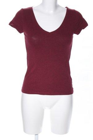 H&M V-Ausschnitt-Shirt rot Casual-Look