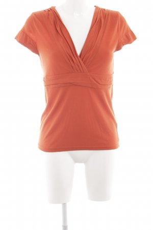 H&M V-Ausschnitt-Shirt dunkelorange Casual-Look
