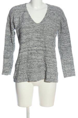 H&M T-shirt col en V gris clair moucheté style décontracté