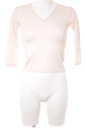 H&M V-Ausschnitt-Shirt hellrosa Casual-Look