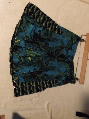 Versace for H&M Plisowana spódnica leśna zieleń-niebieski neonowy