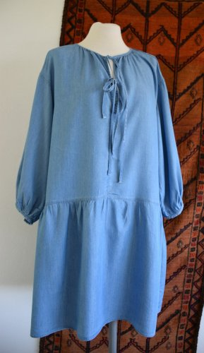 H&M L.O.G.G. Tunic Dress steel blue lyocell