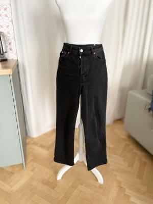 H&M Jeans taille haute noir coton
