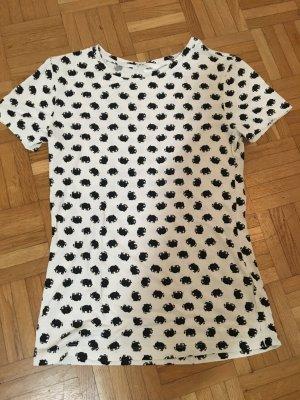H&M Viskose Shirt mit Elefantenprint Gr. XS