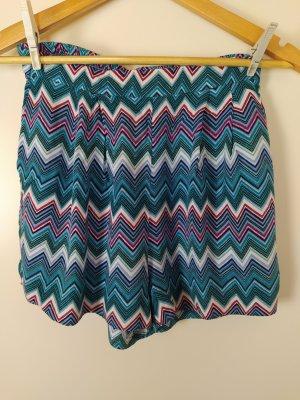 H&M Viskose Shorts mit Taschen, bunt, Gr. 36