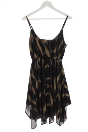 H&M High Low Dress brown-cream allover print casual look