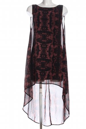 H&M High Low Dress black-brown abstract pattern extravagant style