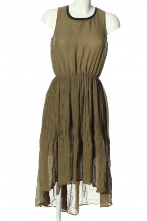 H&M High Low Dress brown casual look