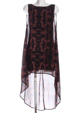 H&M Jurk met langere achterkant zwart-bruin Polyester