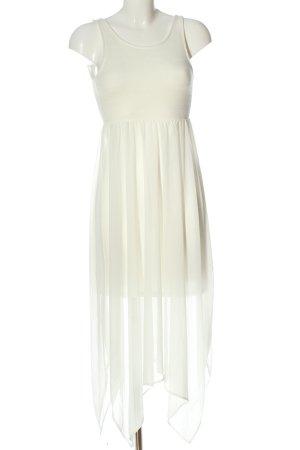 H&M Robe bas asymétrique blanc style décontracté