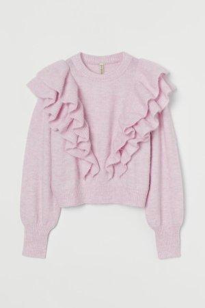 H&M Maglione di lana malva-viola