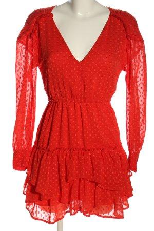 H&M Vestido estilo flounce rojo estampado a lunares look casual