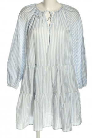 H&M Volantkleid weiß-blau Allover-Druck Casual-Look
