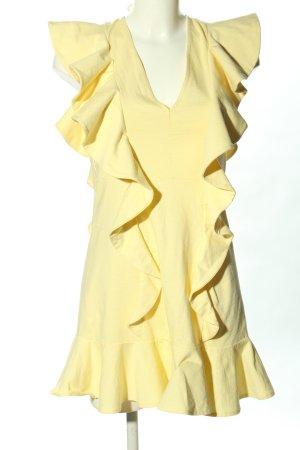 H&M Robe à volants jaune primevère style décontracté
