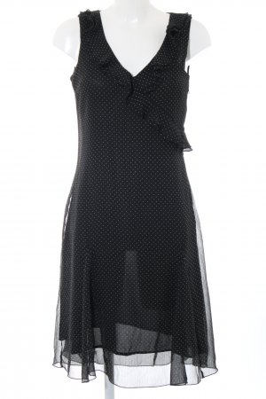 H&M Volantkleid schwarz-weiß Allover-Druck Elegant