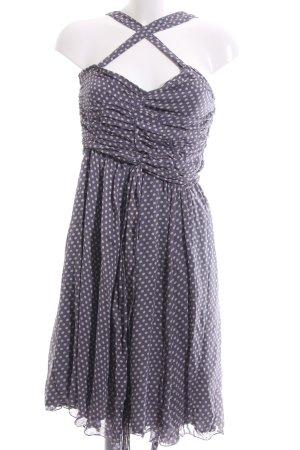 H&M Flounce Dress blue-light grey allover print elegant