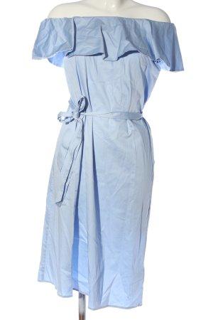 H&M Volantkleid blau Casual-Look