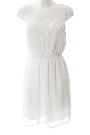 H&M Volantkleid weiß Elegant