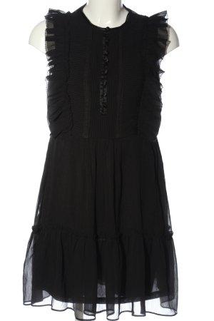 H&M Robe à volants noir élégant