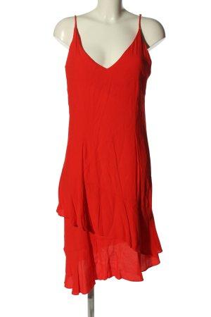 H&M Robe à volants rouge style décontracté