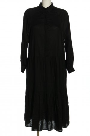 H&M Volantkleid schwarz Casual-Look